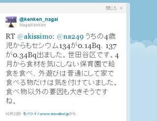 セシウム134が0.14Bq、137が0.34Bq出ました。世田谷区です.JPG